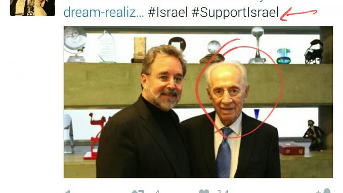 image- war criminal Shimon Peres with a US rabi