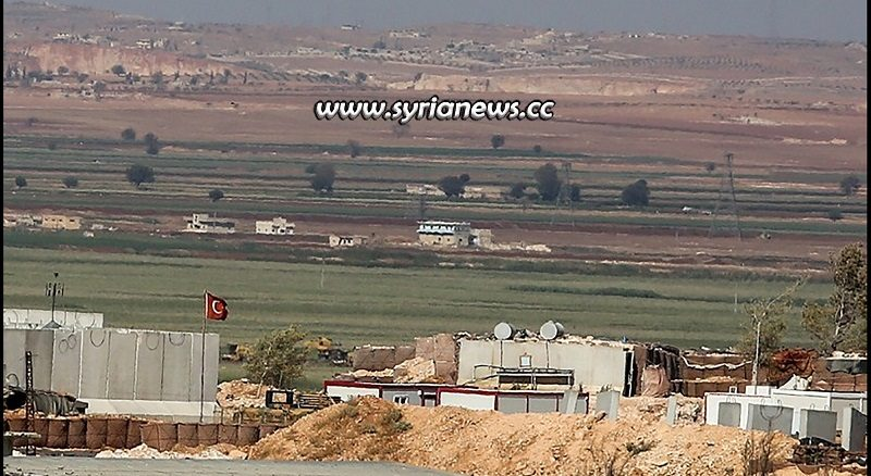Turkish observation point 9 in Morek Hama northern countryside besieged by SAA