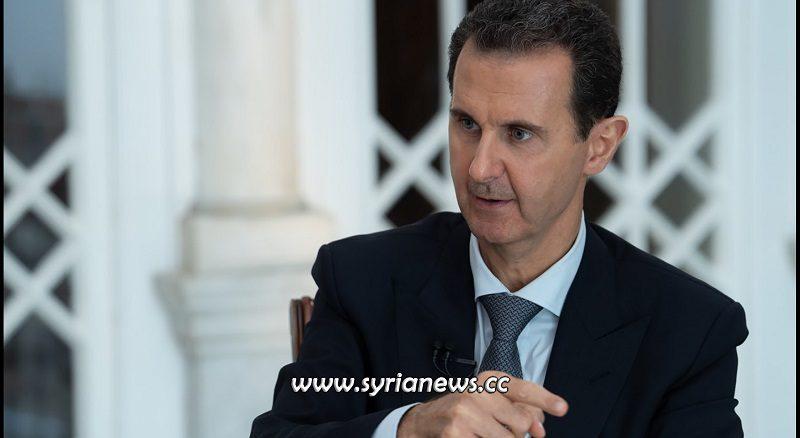 Syrian President Bashar Al Assad interview 31 October 2019