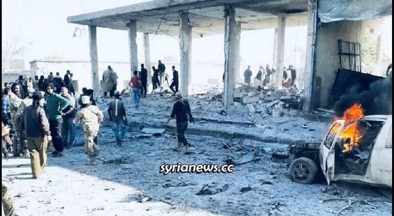 Tal Abiad car explosion kill 10 northern Raqqa countryside Syria - Turkish borders