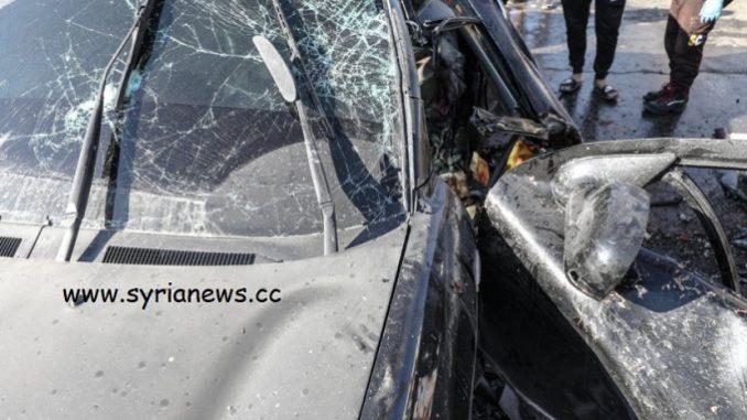 Idlib - Qussour: UAV drone bombs a car kills foreign terrorists